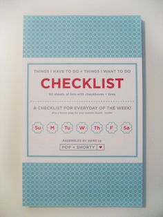 checklist note book