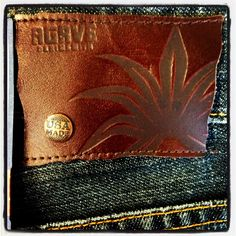 Agave Denim Copper Collection Leather Patch.