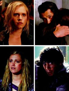 The two people he cares most about in this world. I hope we get another in season 3. Bellamy, Clarke, and Octavia tumblr #The100 #Bellarke