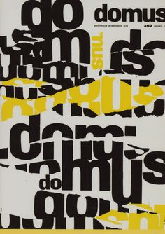 "Vintage cover for ""Domus"" magazine (from a Taschen compilation)"