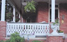 flat baluster | These Lancaster style B9601 flat sawn cedar balusters and railings