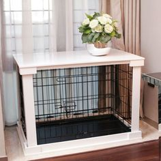 Merry Products End Table Pet Crate with Cage Cover | Pet Supplies, Dog Supplies, Cages & Crates | eBay!