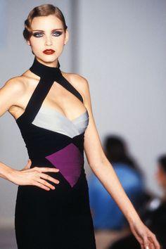 Nadja Auermann Show Hervé Léger - Fall 1993