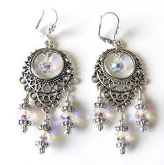 Love for Wedding! -Silvertone Crystal 'Annabella' Chandelier Earrings - Overstock™ Shopping - The Best Prices on Palmtree Gems Earrings approx $30.