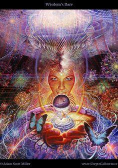 Wisdom's Dare  by *CorpusCallosum  Traditional Art / Paintings / Space Art