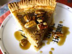 Brown sugar buttermilk pie with bourbon brown sugar sauce