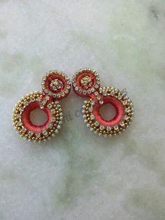 Silk thread earrings<3