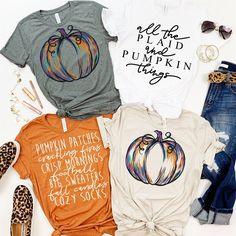 Autumn Season Tops - Casual Fall Outfits for Women Fall Shirts, Cute Shirts, Vinyl Shirts, Casual Fall Outfits, Fall Sweaters, Diy Shirt, Fall Season, Colorful Shirts, Shirt Designs