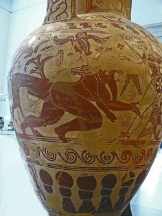 Terracotta Neck amphora Greek Attic Proto-Attic second quarter of the 7th century attributed to the New York Nettos Painter by mharrsch, via Flickr