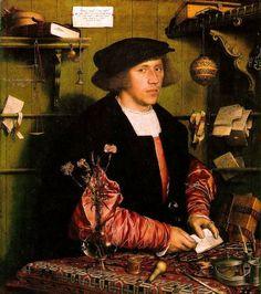 Holbein, Hans - Georg Gisze, a German merchant in London - Manierismo - Wikipedia, la enciclopedia libre