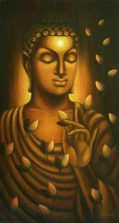 Budha Painting, Kerala Mural Painting, Tanjore Painting, Krishna Painting, Indian Art Paintings, Buddha Peace, Buddha Buddhism, Buddha Canvas, Buddha Art