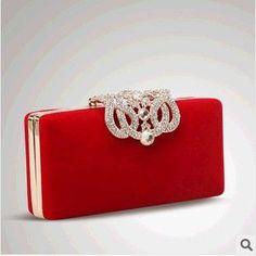 Lowest Price Women's Bags Fashion Design Diamond Party Evening Bags Velvet Handbags Wedding Crystal Samll Clutch Purse Crossbody