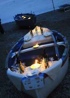This is thinking outside the box! So very romantic.  Med inStyle - Meetings and Events - Capri, Italy