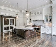 Modern Luxury Kitchens For A Grand Kitchen Luxury Kitchen Design, Best Kitchen Designs, Luxury Kitchens, Cool Kitchens, White Kitchens, Dream Kitchens, Kitchen Interior, Kitchen Decor, Kitchen Ideas