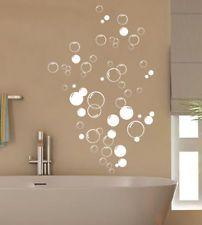 90x Bubbles Bathroom Vinyl wall stickers, Shower Door, Home DIY Wall Art Decal