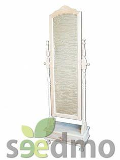 #Muebles y #decoración espejo vestidor torneado con cajon low cost compra Online.