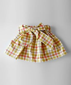 Take a look at this Red & Green Conner Sash Skirt - Toddler & Girls by Trendy Ties on #zulily today!