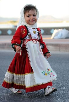 Cute Little Girls, Sardegna Costume, Sardinia Italy