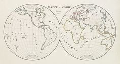 Old map by SUHARD - [Manuscript] Mappe - Monde - Novembre 1838.