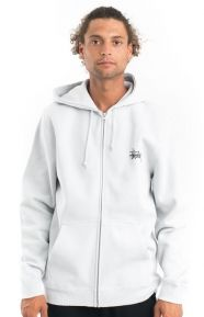 Stussy Clothing, Basic Stussy Zip-Up Hoodie - Fog