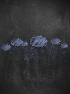 Chalkboard Rain / 2230