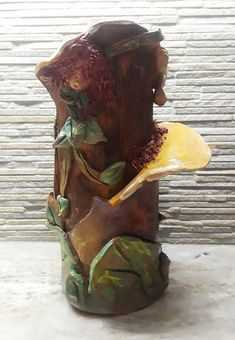 Another piece from The Woodland Faerie Series, created in Terracotta, fun and functional. This is the Faerie Vase. Available for purchase.     #fairies, #fairy, #artforsale, #pottery, #flowervases, #orlandoart, #orlando, #dryads