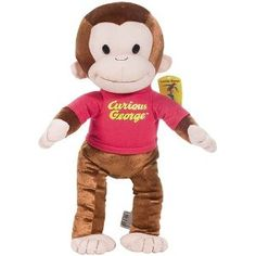 Curious George: Classic George in Red Shirt 13-inch Plush: Amazon.co.uk: Toys & Games thankyou to Ozzy boy