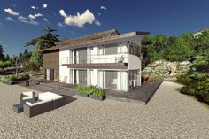 The best modern house designs. Find cool ultra modern mansion blueprints, small contemporary 1 story home designs & more! Call for expert help. New House Plans, Modern House Plans, Best Modern House Design, Modern Design, Duplex Plans, Modern Mansion, Modern Exterior, Building Design, Country Style