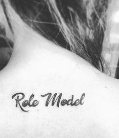Role model tattoo  Backneck Tattoo