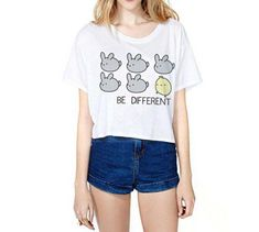 Uideazone Teen Girls Cute Pig Crop Top Women Tees T-Shirt White *Click image to check it out* (affiliate link)