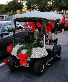 how to decorate a golf cart for christmas - Golf Cart Christmas Decorations