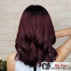 44 Fascinating Fall Hair Colors Ideas For Women ., 44 Fascinating Fall Hair Colors Ideas for Women hair color # . - 44 Fascinating Fall Hair Colors Ideas for Women hair color If you feel that brunettes usually are happier. Hair Color Balayage, Ombre Hair, Dyed Red Hair, Hair Dye, Pelo Color Borgoña, Wine Hair, Dark Hair, Dark Red Brown Hair, Mahogany Brown Hair