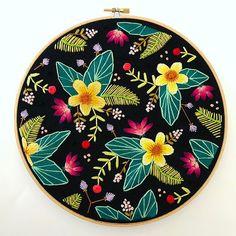 Introducing my Melanie Dawn hoop. Just as vibrant as her muse ☺️I'll add her to the shop soon! . . . . #embroidery #bordado #broderie #nakis #hoopart #wallart #marablelake #makersvillage #makersmovement #makersgonnamake #dmcthreads #etsy #etsyshop #etsysellersofinstagram #marablelake #jungalowstyle #colorlove #tropical #handmadelove #craftspire #craftposure