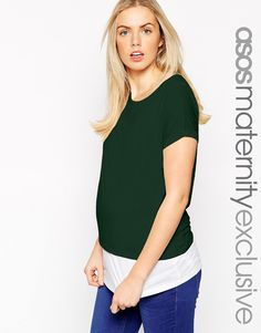 Image 1 of ASOS Maternity NURSING T-Shirt With Double Layer