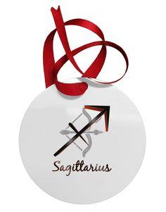 Sagittarius Symbol Circular Metal Ornament