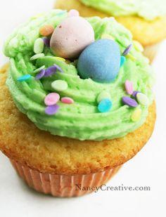 Ann's Easter Egg Cupcakes