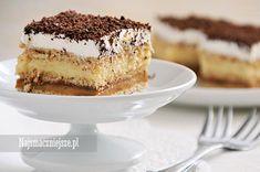 Ciasto 3 Bit, najsmaczniejsze.pl, karmel, budyń, śmietanka, ciasto bez pieczenia