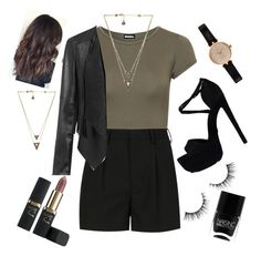 """""""Untitled #639"""" by nikola-sperlikova ❤ liked on Polyvore featuring WearAll, Yves Saint Laurent, Kurt Geiger, L'Oréal Paris, Barbour, House of Harlow 1960 and Nails Inc."""