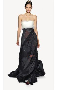 <p>Vestido bicolor de Carolina Herrera</p> 0 personas lo aman, 0 lo odian, ¿y tú?