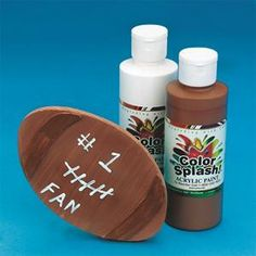 Larger image for Wood Football Craft Kit (makes Fun Arts And Crafts, Crafts For Boys, Diy Crafts, Football Crafts, Football And Basketball, Buy Wood, Craft Kits, Pre School, Color Splash