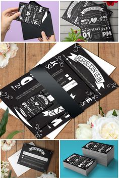 Printable Rustic Chalkboard Wedding Invitation Suite Template #diywedding #rusticwedding #weddingsuite #prandski