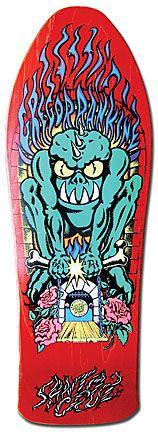Gregor Rankine Bone Crusher by Jim Phillips Old School Skateboards, Vintage Skateboards, Skateboard Deck Art, Skateboard Design, Original Skateboards, Skateboard Companies, Skate And Destroy, Skate Art, Skate Decks