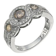 LeVian 14CT Gold Sixty Point White & Chocolate Diamond Ring - Product number 8789487 @ Earnest Jones ~Love & Life