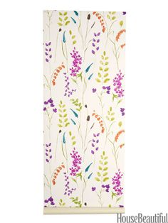 Bluebell wallpaper from grahambrown.com. housebeautiful.com. #floral #wallpaper