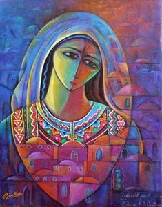 جديد اعمال الفنان فايز الحسني 2013 اكريليك علي كانفس .. Fayez Elhasani Artist