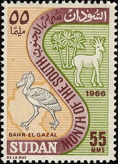 Birds on stamps: Sudan Soudan