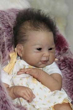 Asian Reborn Baby Dolls   Reborn Baby Girl Reallife Asia Baby Jia-Li by Sebilla Bos new