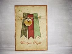 card by AgnieszkaD, using flair button from Eye Christmas Ideas, Xmas, 3rd Eye, My Works, Banners, Cardmaking, Button, Inspiration, Seasons Of The Year