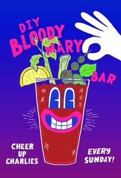 DIY Bloody Mary Bar at Cheer Up Charlies - Will Bryant Studio