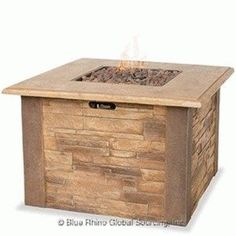 UniFlame LP Gas Outdoor Fire Bowl with Faux Stacked Stone Item# 1352  - Click image twice -see more best selling firepits at http://www.zbestsellers.com/level.php?node=104title=best-selling-firepits -  home, patio, home decor, garden, outdoors , outdoor living , gift ideas.